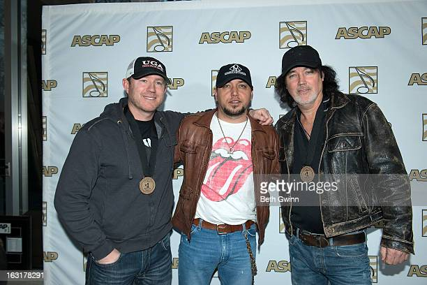 Ben Hayslip, Jason Aldean, and David Lee Murphy attend the ASCAP#1 party at ASCAP Building on March 5, 2013 in Nashville, Tennessee.