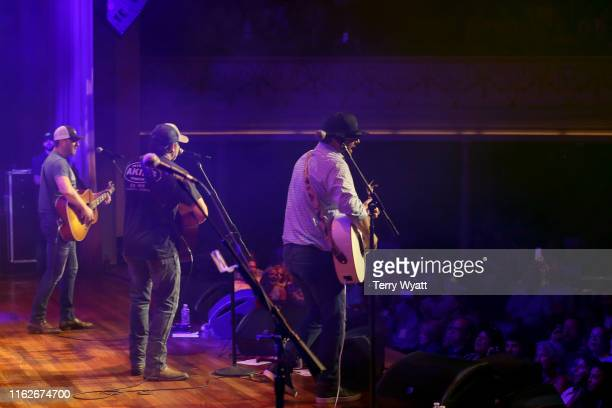Ben Hayslip Rhett Akins and Dallas Davidson of The Peach Pickers performs onstage during the 6th Annual Georgia On My Mind presented by Gretsch at...
