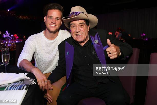 Ben Hazlewood and Molly Meldrum pose during the Australian LGBTI Awards at The Star on March 2 2018 in Sydney Australia