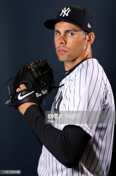 Ben Heller of the New York Yankees poses for a portrait during the New York Yankees Photo Day on February 21 2019 at George M Steinbrenner Field in...
