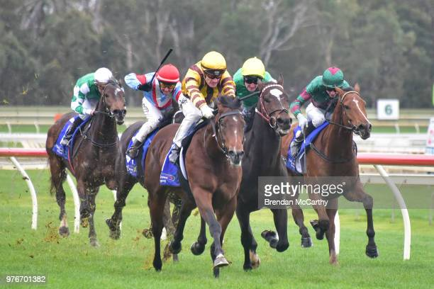 Clerk of the Course Ken Keating joined by daughters Debbie and Tracy and son Mark for his last race the âThanks Kenny Keating❠Maiden Plate at...