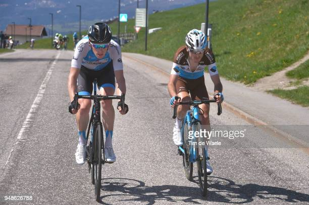 Ben Hermans of Belgium and Team Israel Cycling Academy / Hubert Dupont of France and Team AG2R La Mondiale / during the 42nd Tour of the Alps 2018...