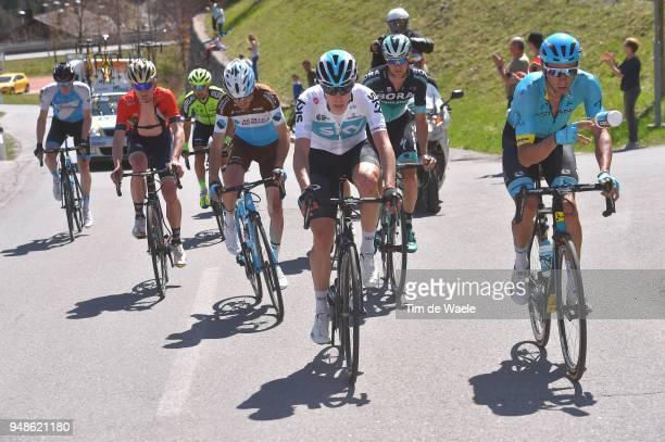 Ben Hermans of Belgium and Team Israel Cycling Academy / Mark Padun of Ukraine and Team Bahrain Merida / Mikel Bizkarra of Spain / and Team Euskadi...