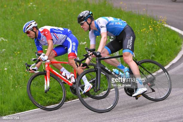 Ben Hermans of Belgium and Team Israel Cycling Academy / Steve Morabito of Switzerland and Team GroupamaFDJ / during the 101st Tour of Italy 2018...