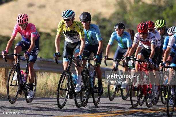 Ben Hermans of Belgium and Team Israel Cycling Academy / Yellow Leader Jersey / Joe Dombrowski of The United States and Team EF Education First /...