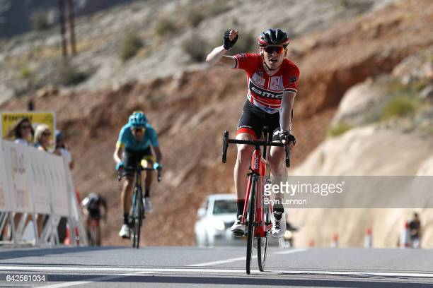 Ben Hermans of Belgium and the BMC Racing Team celebrates winning stage five of the 8th Tour of Oman a 1525km stage from Sama'il to Jabal Al Akhdhar...