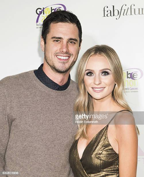 Ben Higgins and Lauren Bushnell attend The Bachelor Charity Premiere Party at Sycamore Tavern on January 2 2017 in Los Angeles California