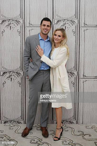Ben Higgins and Lauren Bushnell discuss The Bachelor at AOL Studios in New York on March 15 2016 in New York City