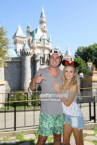 AFTER Ben Higgins and Lauren Bushnell from Ben Lauren Happily Ever After enjoy a magical day at Disneyland BEN