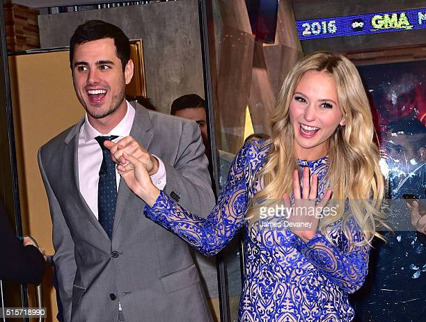 Ben Higgins and Lauren Bushnell visit ABC's Good Morning America in Times Square on March 15 2016 in New York City