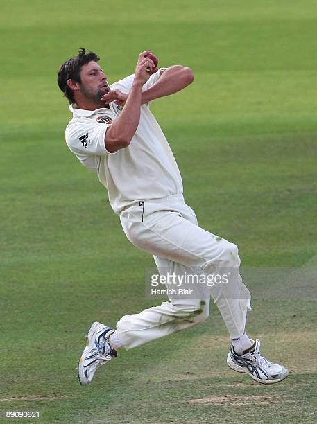 Ben Hilfenhaus of Australia bowls during day three of the npower 2nd Ashes Test Match between England and Australia at Lord's on July 18 2009 in...