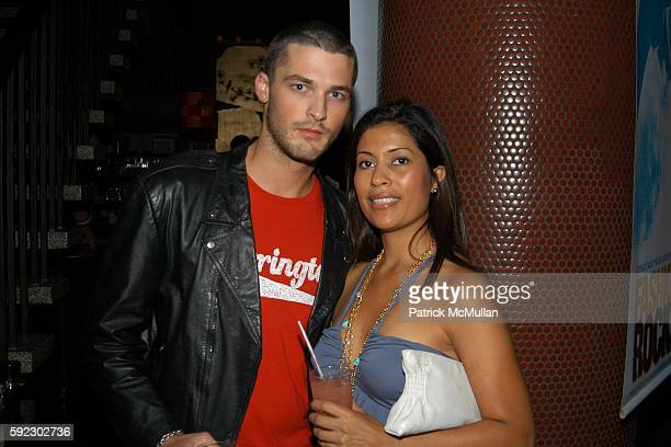 Ben Hill and Angie Hererra attend Max Lubov Azria Conde Nast Present a Pre 'Fashion Rocks' Party at Hiro Ballroom on September 7 2005 in New York City
