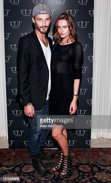 Ben Hill and model Zuzana Gregorova are seen at New York Magazine's The Cut Launch Event at NoMad Hotel Rooftop on September 5 2012 in New York City