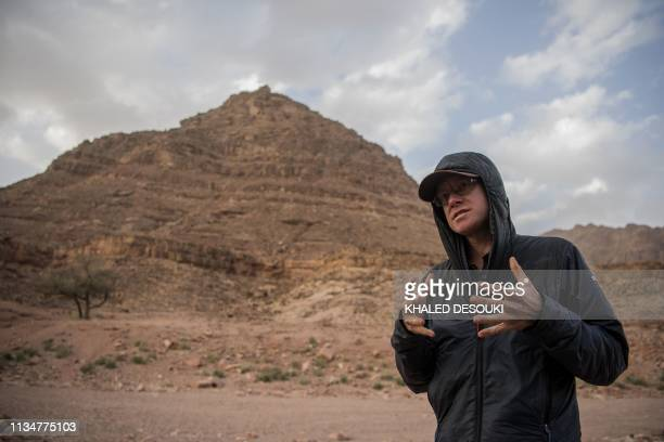 Ben Hoffler one of the founders of Sinai Trail gives an interview in the village of alHamada in Wadi elSahu in Egypt's South Sinai governorate on...