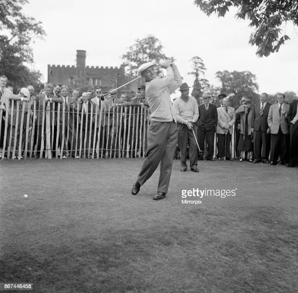 Ben Hogan and Sam Snead United States Golfers prepare to tee off Canada Cup Practice Day Wentworth Virginia Water near Ascot Saturday 23rd June 1956