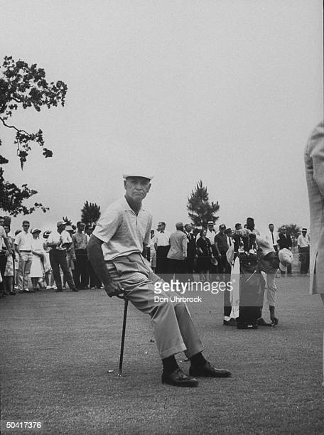 Ben Hogan during match against Sam Snead at Houston Country Club