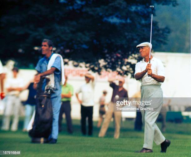Ben Hogan is on the fairway at the Thunderbird Classic on June 6 1962 in Clifton New Jersey