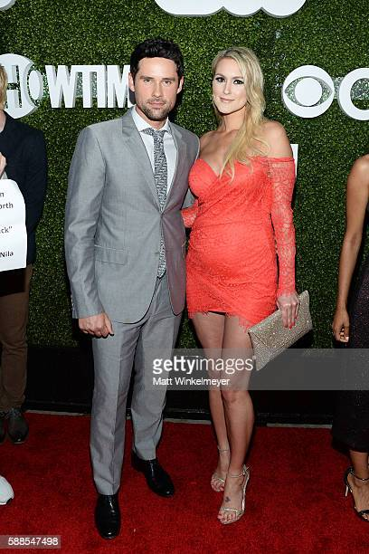 Ben Hollingsworth and Nila Myers arrive at the CBS, CW, Showtime Summer TCA Party at Pacific Design Center on August 10, 2016 in West Hollywood,...
