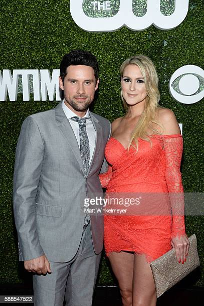 Ben Hollingsworth and Nila Myers arrive at the CBS CW Showtime Summer TCA Party at Pacific Design Center on August 10 2016 in West Hollywood...