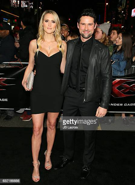 Ben Hollingsworth and Nila Myers attend the premiere of Paramount Pictures' 'xXx: Return Of Xander Cage' on January 19, 2017 in Los Angeles,...