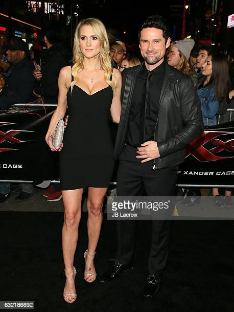 Ben Hollingsworth and Nila Myers attend the premiere of Paramount Pictures' 'xXx Return Of Xander Cage' on January 19 2017 in Los Angeles California