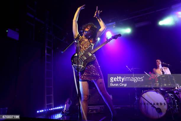 Ben Hopkins and Liv Bruce of PWR BTTM perform at The Garage on April 18 2017 in London United Kingdom