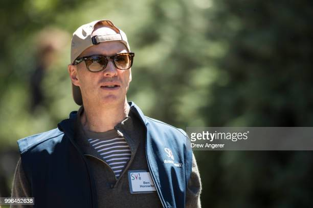 Ben Horowitz cofounder of venture capitalist firm Andreessen Horowitz attends the annual Allen Company Sun Valley Conference July 11 2018 in Sun...