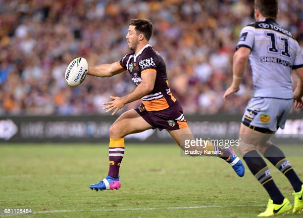 Ben Hunt of the Broncos in action during the round two NRL match between the Brisbane Broncos and the North Queensland Cowboys at Suncorp Stadium on...