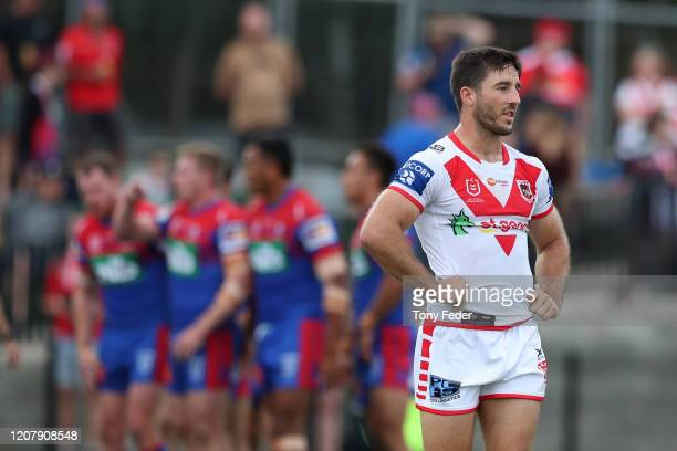 Ben Hunt of the Dragons during the NRL Trial match between the Newcastle Knights and the St George Illawarra Dragons at Maitland No. 1 Sportsground...
