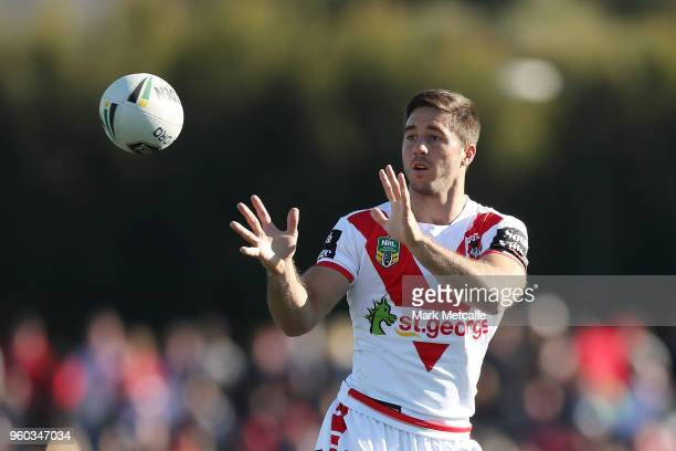 Ben Hunt of the Dragons in action during the round 11 NRL match between the St George Illawarra Dragons and the Canberra Raiders at Glen Willow...