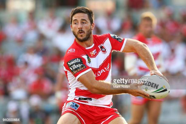 Ben Hunt of the Dragons in action during the round four NRL match between the St George Illawarra Dragons and the Newcastle Knights at WIN Stadium on...