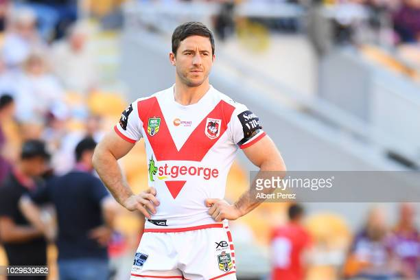 Ben Hunt of the Dragons is seen during warm ups ahead of the NRL Elimination Final match between the Brisbane Broncos and the St George Illawarra...