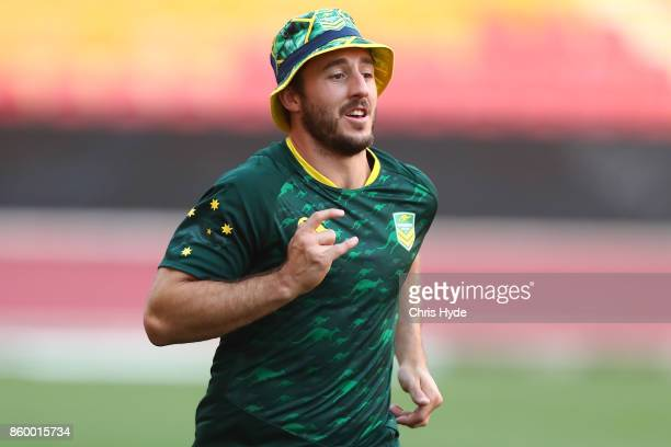 Ben Hunt runs during an Australian Kangaroos Rugby League World Cup training session at Suncorp Stadium on October 11 2017 in Brisbane Australia