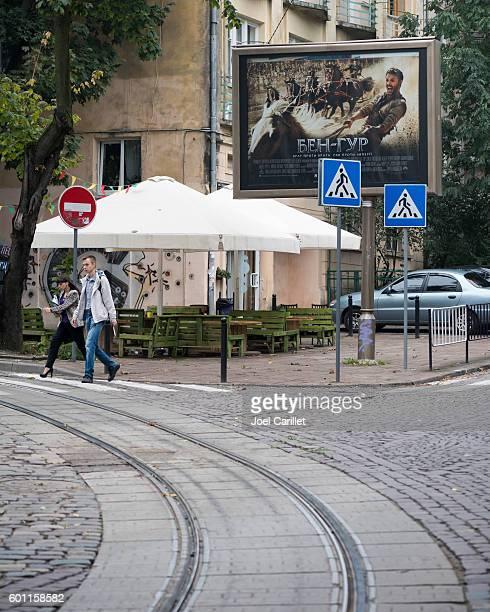 Ben Hur movie advertisement in Lviv, Ukraine