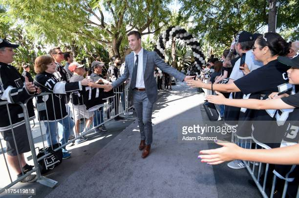 Ben Hutton of the Los Angeles Kings arrives before the Los Angeles Kings game against the Nashville Predators at STAPLES Center on October 12, 2019...
