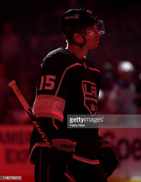 Ben Hutton of the Los Angeles Kings before the game against the Buffalo Sabres at Staples Center on October 17, 2019 in Los Angeles, California.