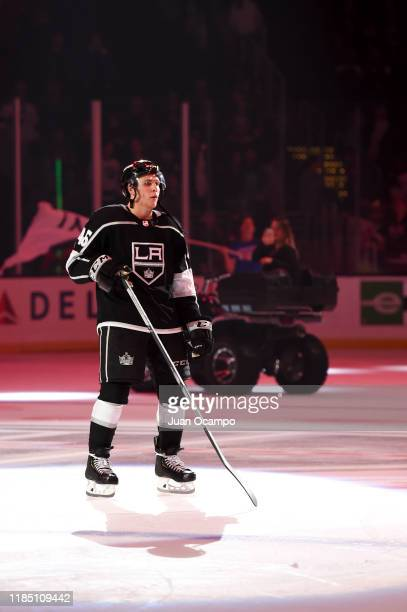 Ben Hutton of the Los Angeles Kings skates on the ice after Los Angeles Kings victory against the New York Islanders at STAPLES Center on November...