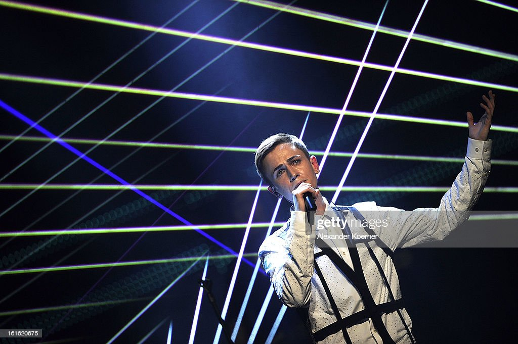 Ben Ivory performs during the TV Show rehearsals of 'Our Star For Malmoe' on February 13, 2013 in Hanover, Germany. 'Our Star For Malmoe' is a national contest to vote for the German contestant for the 58th Eurovision Song Contest taking place in Malmoe, Sweden in May 2013.