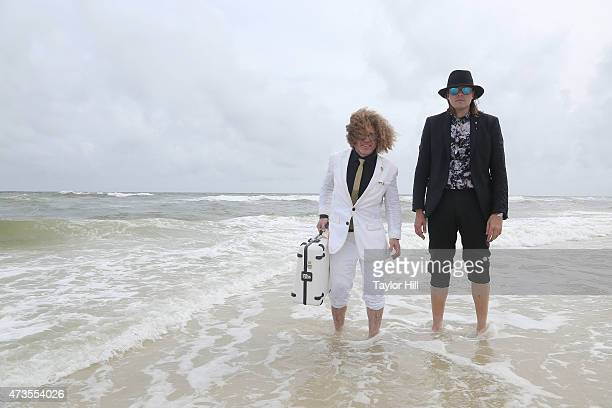 Ben Jaffe of Preservation Hall Jazz Band and Win Butler of Arcade Fire pose for portraits in the Gulf of Mexico on May 15 2015 in Gulf Shores Alabama
