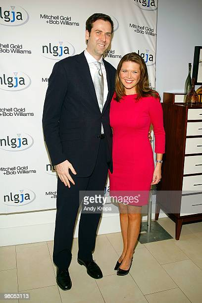 Ben James and Trish Regan attend the NLGJA's 15th Annual New York Benefit at Mitchell Gold Bob Williams SoHo Store on March 25 2010 in New York City