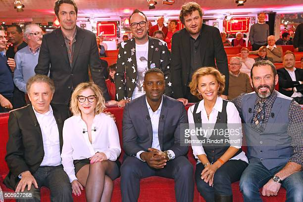 Ben, Jarry, Olivier de Benoist, Michel Drucker, Marilou Berry, Main Guest of the show Omar Sy, Corinne Touzet and Christian Vadim attend the...