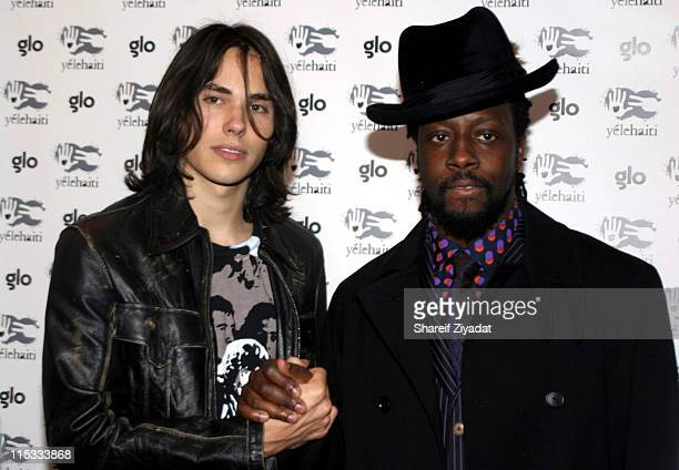 Ben Jelen and Wyclef Jean during Wyclef Jean's Yele Haiti Fundraiser 2004 at Glo in New York City New York United States