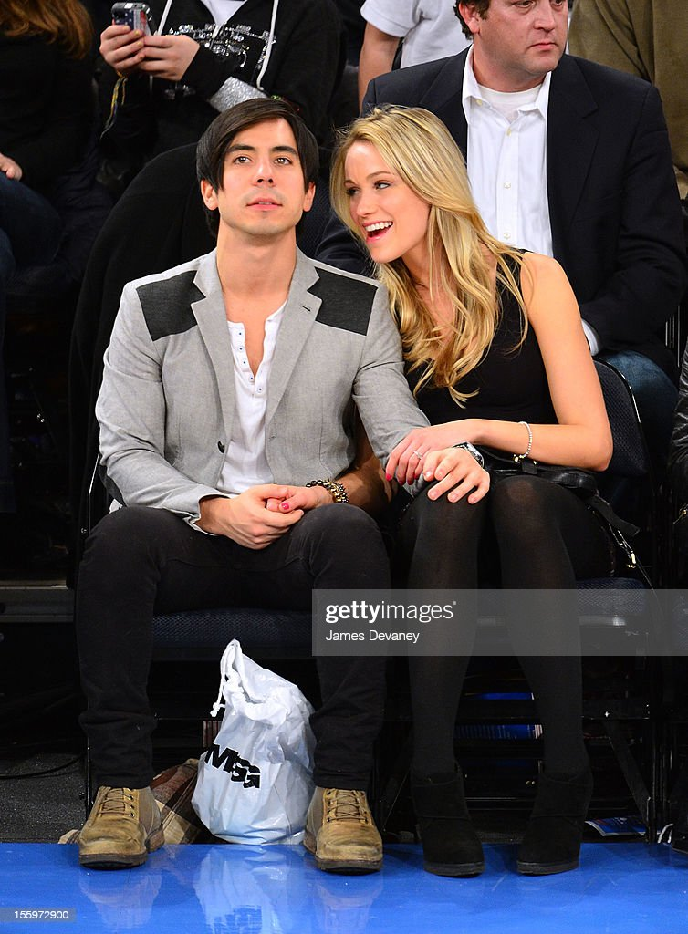 Ben Jorgensen and Katrina Bowden attend the Dallas Mavericks vs New York Knicks game at Madison Square Garden on November 9, 2012 in New York City.