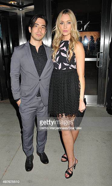 Ben Jorgenson and Katrina Bowden are seen on October 15 2015 in New York City