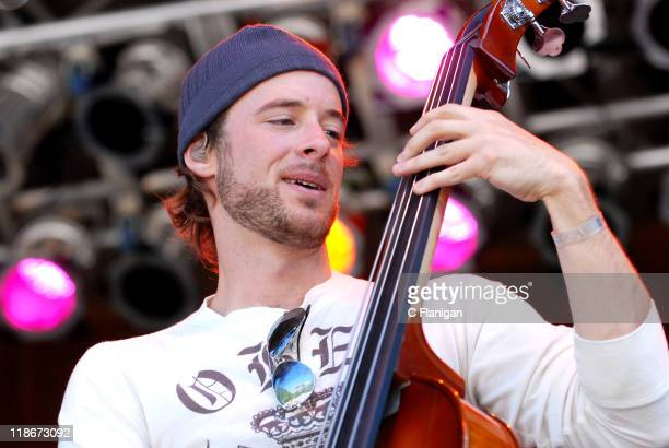 Ben Kaufmann of Yonder Mountain String Band during The 34th Annual Telluride Bluegrass Festival Day 2 Yonder Mountain String Band at Town Park in...