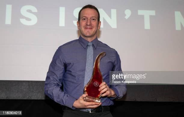 "Ben Kawaller of ""This Isn't Me"" wins Best Comedy Actor at the Catalyst Content Awards Gala on October 13 2019 in Duluth Minnesota"