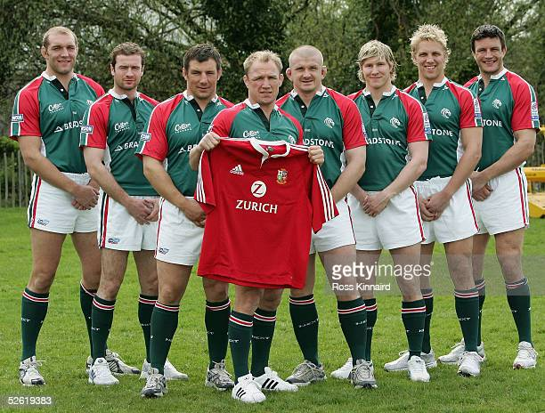 Ben Kay, Geordan Murphy, Julian White, Neil Back, Graham Rowntree, Ollie Smith, Lewis Moody and Martin Corry, the Leicester Tigers players who have...