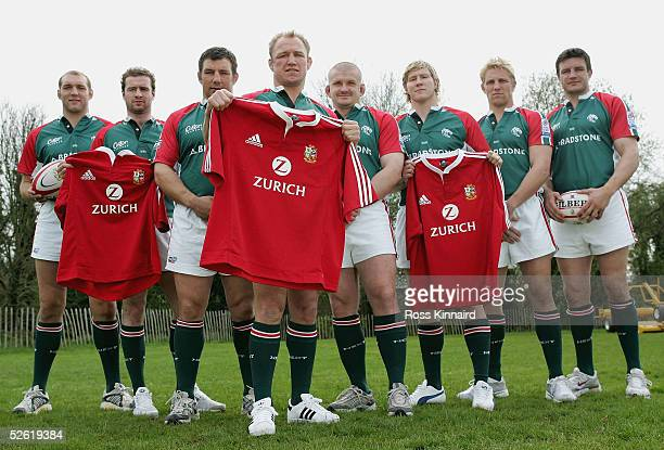 Ben Kay Geordan Murphy Julian White Neil Back Graham Rowntree Ollie Smith Lewis Moody and Martin Corry the Leicester Tigers players who have been...