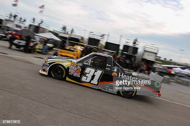 Ben Kennedy driver of the No 41 Heatercom Chevrolet during practice for the NASCAR Camping World Truck Series American Ethanol 200 presented by...