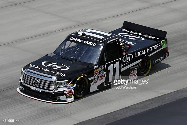 Ben Kennedy drives the Local Motors Toyota during practice for the NASCAR Camping World Truck Series Lucas Oil 200 at Dover International Speedway on...